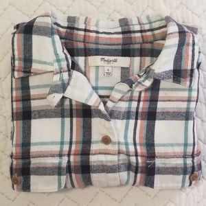 Madewell • Plaid Flannel Shirt with Pockets